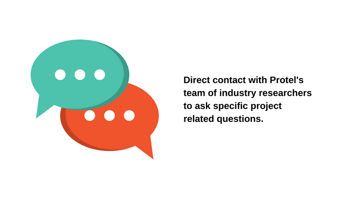 Project database | Direct contact with Protel's team of industry researchers