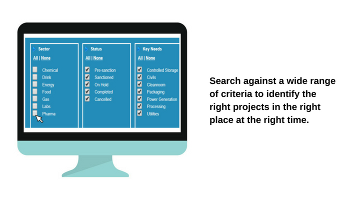 Project database | Search again a wide variety of criteria to identify the right projects, in the right place, at the right time