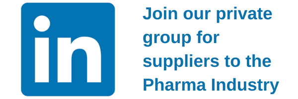 Join our Linkedin group for suppliers to the pharmaceutical industry